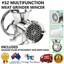Aluminium Heavy Duty Hand Mincer Home Kitchen Manual Operated Fresh Meat Grinder