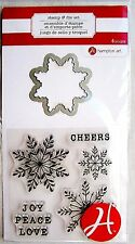 Snowflake Christmas Clear Stamp and Die Set by Hampton Art Stamps SC0713 NEW!