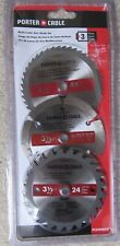 Porter Cable Multi-Cutter Saw Blade Set 3 Piece 3 1/2 Inch Wood Metal Tile