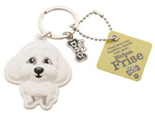 Wags & Whiskers Top Dogs Bichon Frise Dog Keyring 00204000003