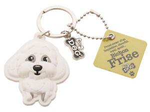 Bichon Frise 3D Key Ring Bag Charm Tag Dog Lovers Gift Stocking Filler