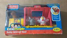 Fisher Price Little People Farm Baby Animal Nest Play Set Llama Chicken RARE (S3