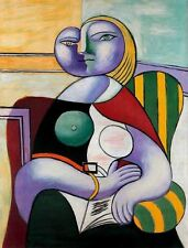 Picasso hand painted art painting woman on the canvas 24x36