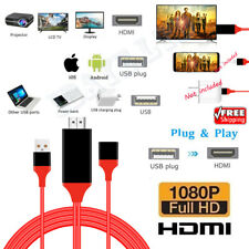 Screen Mirror connect Android IOS Phone to TV HDMI media Player HD cable Adapter