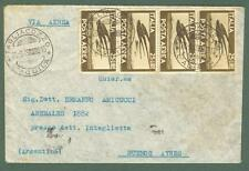 Storia postale. REPUBBLICA ITALIANA. Lettera aerea del 26.9. 1949 x l'Argentina