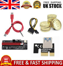 More details for pci-e riser board 1x to 16x 6-pin adapter card gpu extender board bitcoin mining