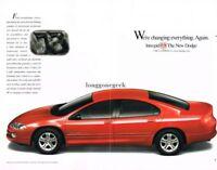 1999 Dodge INTREPID Candy Apple Red 4-door Sedan Centerfold Vtg Print Ad
