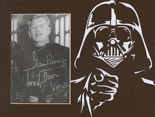 DAVE PROWSE Signed 10x8 Photo Display STAR WARS DARTH VADER COA