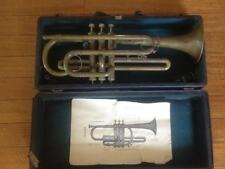 Antique 1920s Symphony Pro Cornet Horn  Made in Czechoslovakia Orig Case