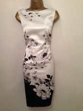 GORGEOUS COAST FLORAL SATIN WIGGLE EVENING DRESS, SIZE 14 Mother Of Bride