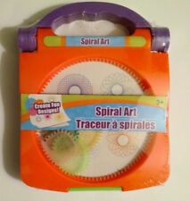Orange Spiral Art Craft Set Spirograph w