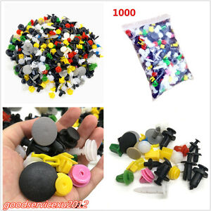 1000 Pcs/Set Mixed Plastic Car Offroad Door Bumper Retainer Rivet Fastener Clips