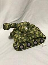 Army Tank Plush Stuffed Toy Green Camo Camouflage Sugar Loaf Kellytoy Plush Kids