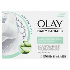 (Pack of 2) OLAY Daily Gentle Clean 5-in-1 Cloths, 66 Total Cloths