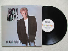 "LP 33T BRYAN ADAMS ""You want it you got it"" A&M RECORDS 393 154-1 SPAIN §"