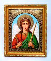Ikone Schutzengel geweiht икона Ангел хранитель конгрев освящена 20,5x18x1,7 cm