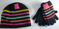 *NWT* XHILARATION UNISEX KIDS FASHION BEANIE HAT AND 2 PAIR GLOVES ONE SIZE M226