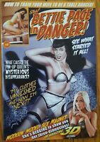 BETTIE PAGE IN DANGER! #0 SHH! PRODUCTIONS COMIC w/ 3-D GLASSES HTF VF 1st Print