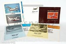 MOONEY Mitsubishi MU-2F & MU-2G Factory Sales Brochure Equipment Rare Color Gift