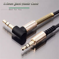 3.5mm Jack Cord Stereo Audio Cable Male To Male 90 Degree Right Angle Aux T ^