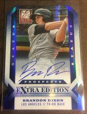 BRANDON DIXON 2013 Elite Extra Edition BLUE STATUS Die Cut Autograph AUTO #d /50