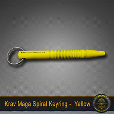 Krav Maga Self-Defence SPIRAL Yellow Key Ring Solid Alloy Tactical