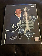 Bobby Baun 8x10 Hand Autographed Photo with COA Toronto Maple Leafs Stanley Cup
