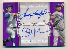 2018 Topps Definitive * SANDY KOUFAX * CLAYTON KERSHAW * Dual On Card Auto #3/5