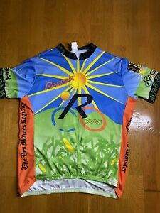 Voler 75%  Zip Cycling Jersey Men's Size 2XL Made In USA ( Pit.24 L26in.)