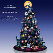 Tim Burton NIGHTMARE BEFORE CHRISTMAS Tabletop TREE (set of 4) NEW