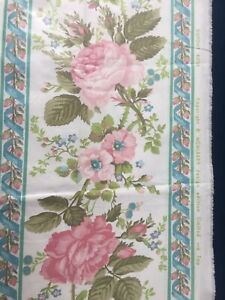 """vintage upholstery fabric """"Dupont Rose"""""""