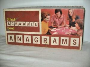 Official Scrabble Brand Anagrams Complete With Instructions Circa 1970's Upson P