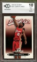 2003-04 UD MVP #201 LeBron James Rookie Card BGS BCCG 10 Mint+