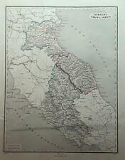 ROMAGNA MARCHE UMBRIA CARTOGRAFIA PAGNONI 1860