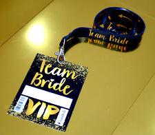 Team Bride VIP Pass Hen Party Lanyards ~ Hen & Bachelorette Party Favours