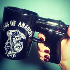 Sons Of Anarchy Skull Samcro Gun Handle Pistol Mug Ceramic Coffee Cup 7740