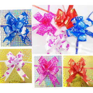 10 Pull Bow Gift Ribbon Car Florist Satin Wrap Present Wrapping Party Bows 12MM