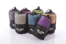 Unisex Large Microfibre Sports Beach Travel Towel Compact Case Gym Yoga Camping