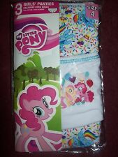 Girls MY LITTLE PONY Panties / Underwear - Size 4 - NEW NWT - THREE PAIRS - CUTE