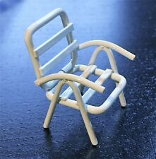 1/24th Scale Lawn Chair, Metal 24th Scale Chair, Doll House Miniature