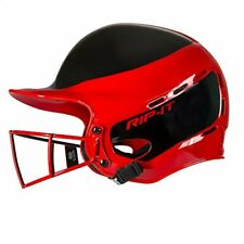 Rip-It Vision Pro Away Softball Batting Helmet (Scarlet, Extra Large)