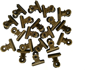 Sunny W Metal Bulldog Clips, 1.25 Inches, Pack of 20 Bronze