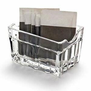 Clear Plastic Sugar packet holder Kitchen Storage Organizer for Small square
