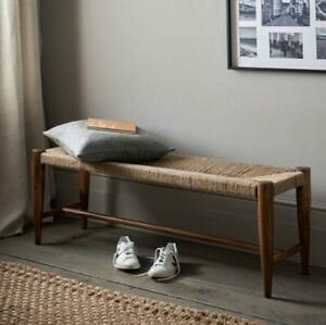 The White Company Burnham Bench Natural/Brown Home Rustic Furniture Seating Home