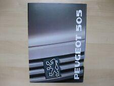 Peugeot 505 incl. V6 prestige brochure Prospekt Text Dutch 26 pages 1989