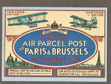 Daily Air Parcel Post Paris Brussels     postcard    n.109