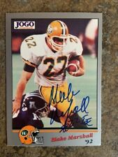 signed in person   BLAKE MARSHALL  CFL  EDMONTON ESKIMOS   JOGO # 105  1992