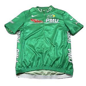 VTG NIKE TOUR DE FRANCE PMU M/L ZIP DRI-FIT Cycling Made in ITALY Jersey 2001