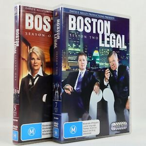 Boston Legal Season 1 2 TV Series Bundle DVD James Spader 2006 Crime Legal Drama