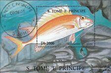 Sao Tome e príncipe Bloque 364 (edición completa) usado 1996 Los peces marinos